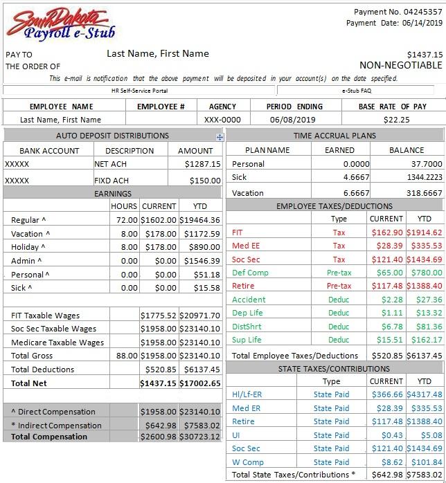 pay stub template 19
