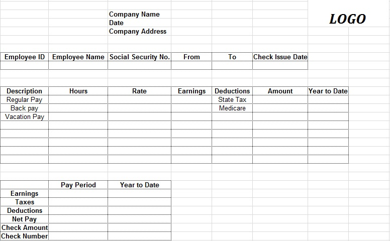 pay stub template 2