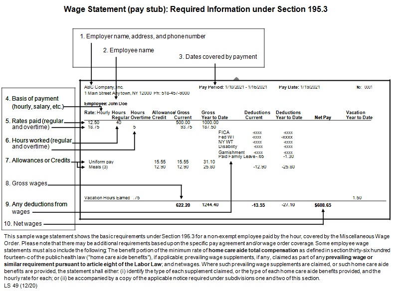 pay stub template 20