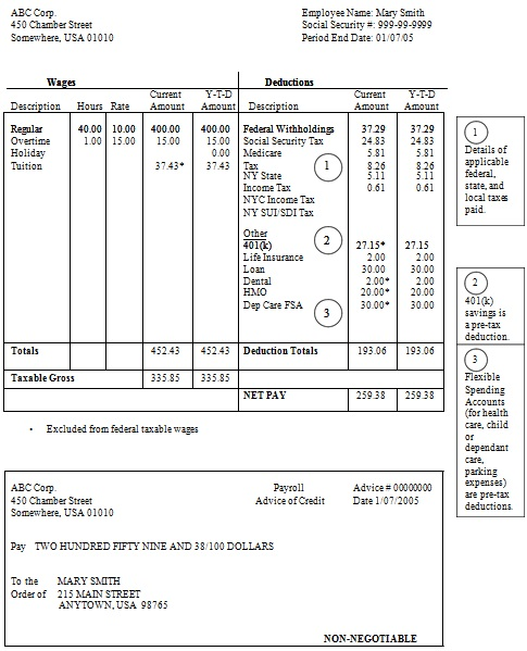 pay stub template 9