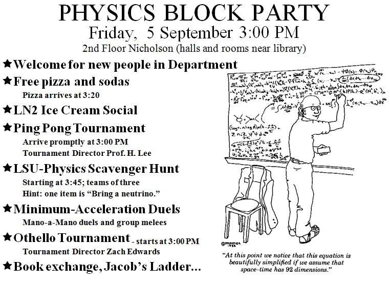 physics block party