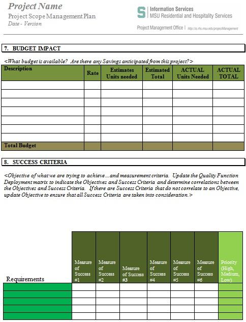 project scope management plan 1