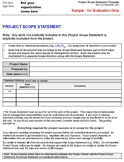 project scope statement 4