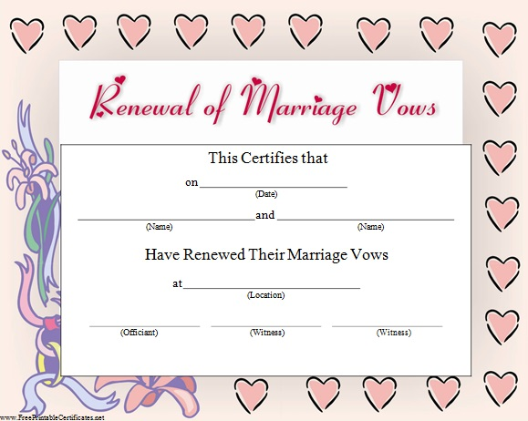 renewal of marriage vows