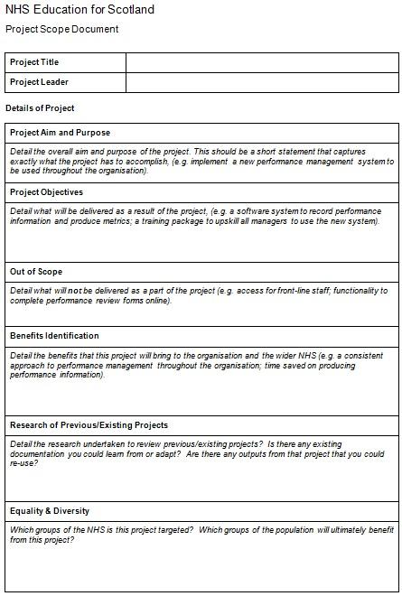 scope statement template 1