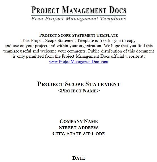 scope statement template 2