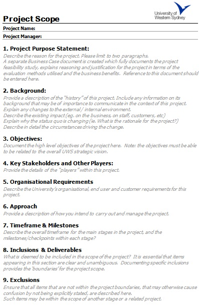 scope statement template 3