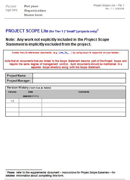 scope statement template 4