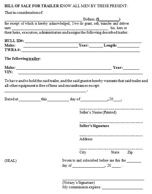 bill of sale template 17
