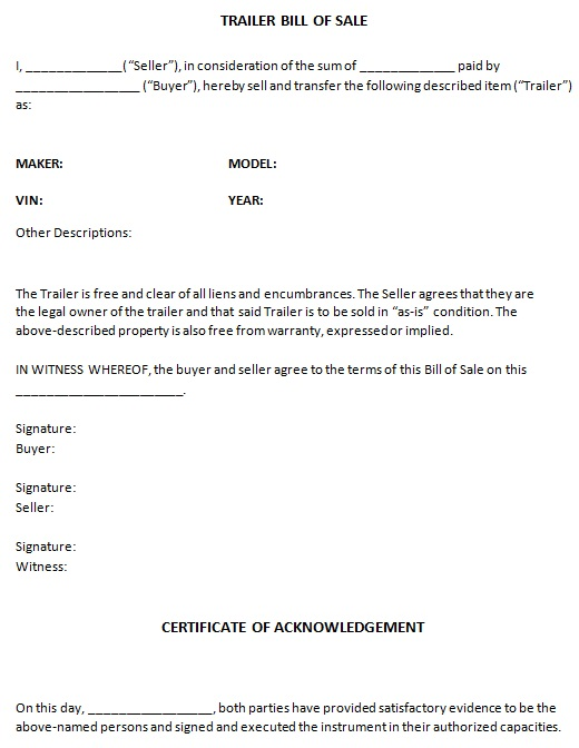 bill of sale template 18