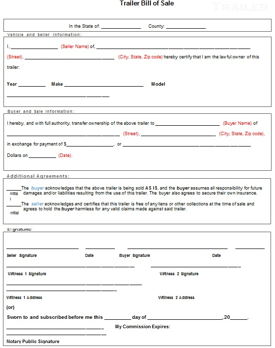 bill of sale template 24