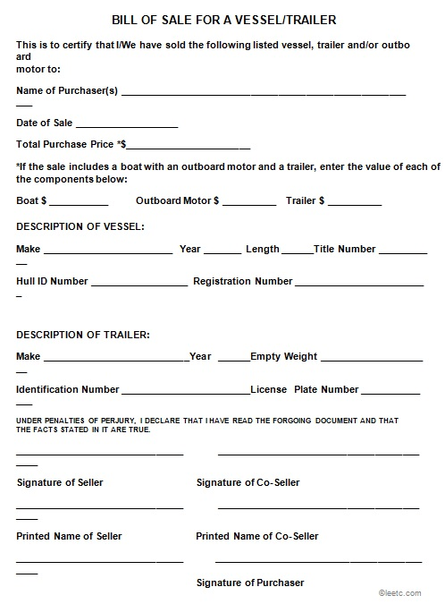 bill of sale template 26