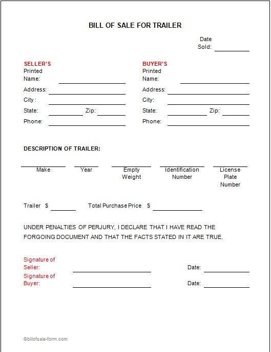 bill of sale template 27