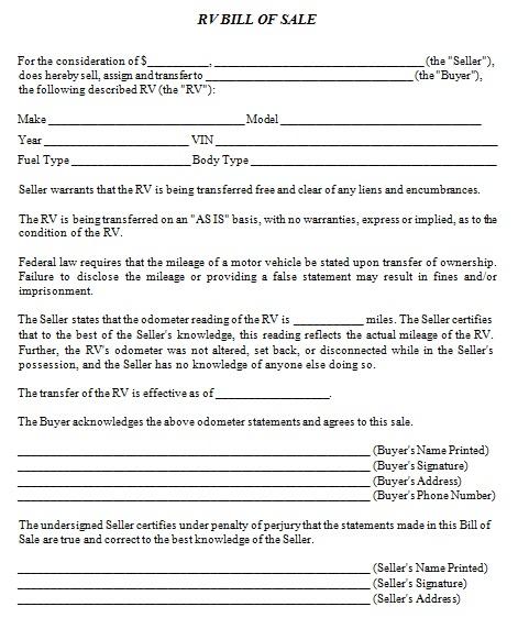 bill of sale template 3