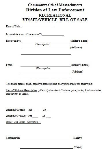 bill of sale template 8