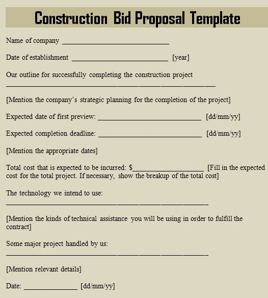 24+ Free Construction Proposal Templates (Excel, Word, PDF)