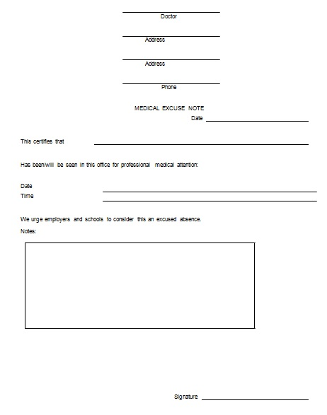 doctors note template 14