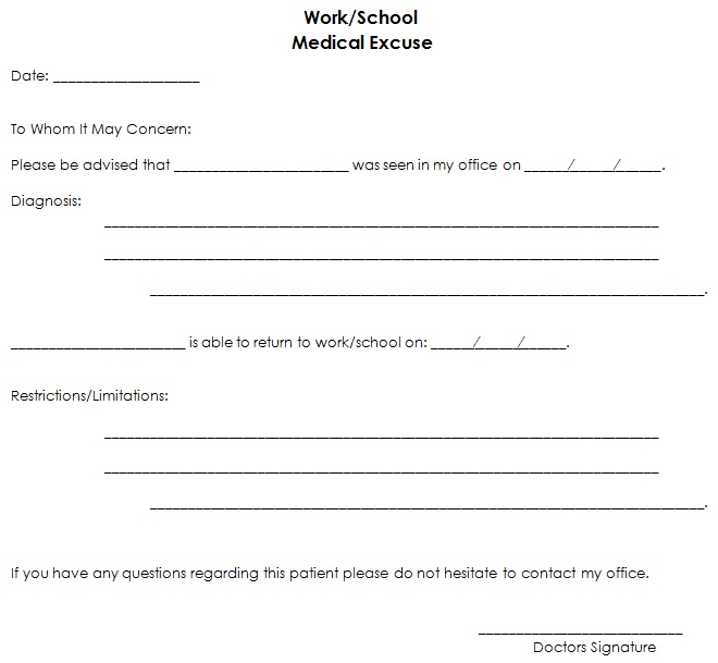 doctors note template 18
