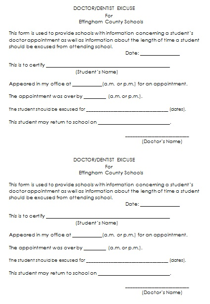 doctors note template 19
