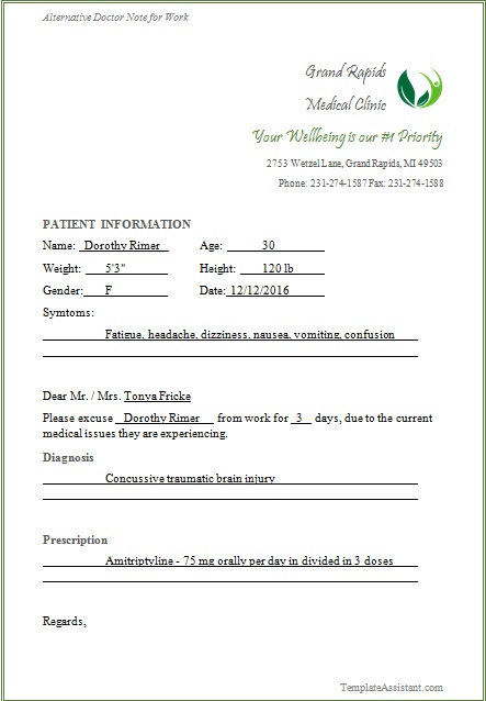 doctors note template 24