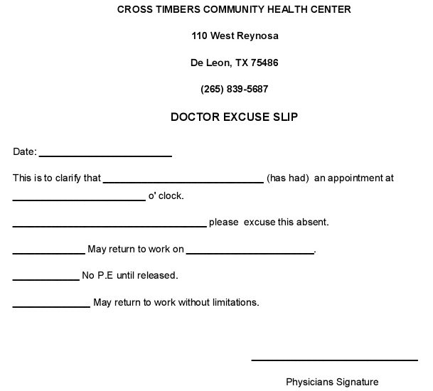 doctors note template 25