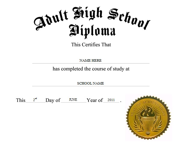 high school diploma template 1