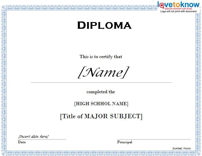 high school diploma template 10