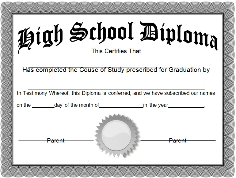 high school diploma template 11
