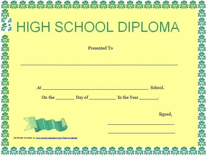 high school diploma template 13