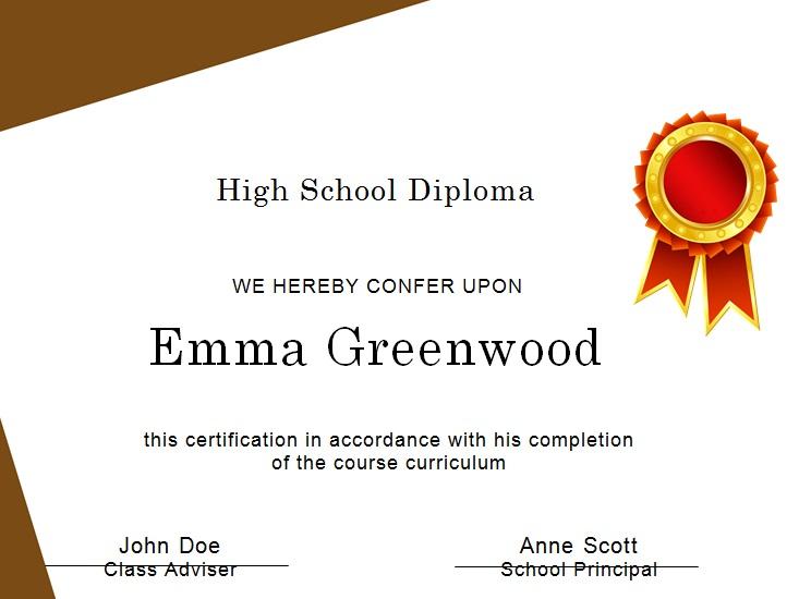 high school diploma template 14