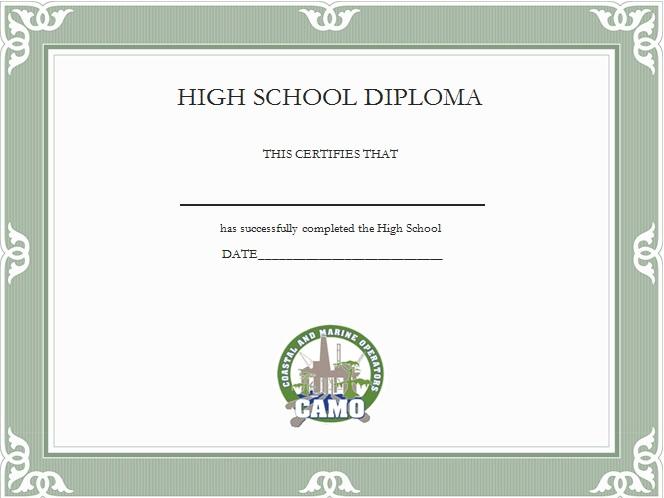 high school diploma template 15