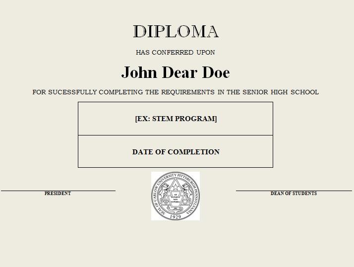 high school diploma template 18
