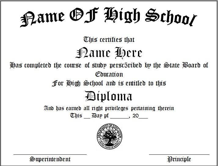 high school diploma template 2