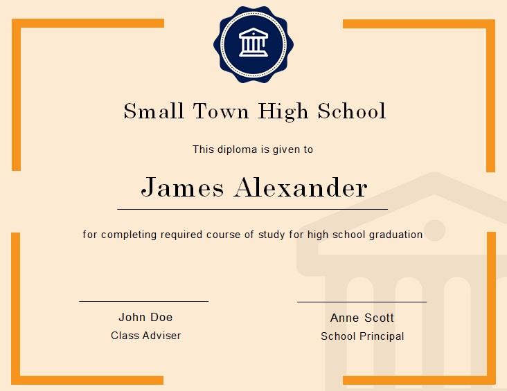 high school diploma template 21