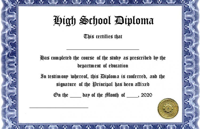 high school diploma template 27