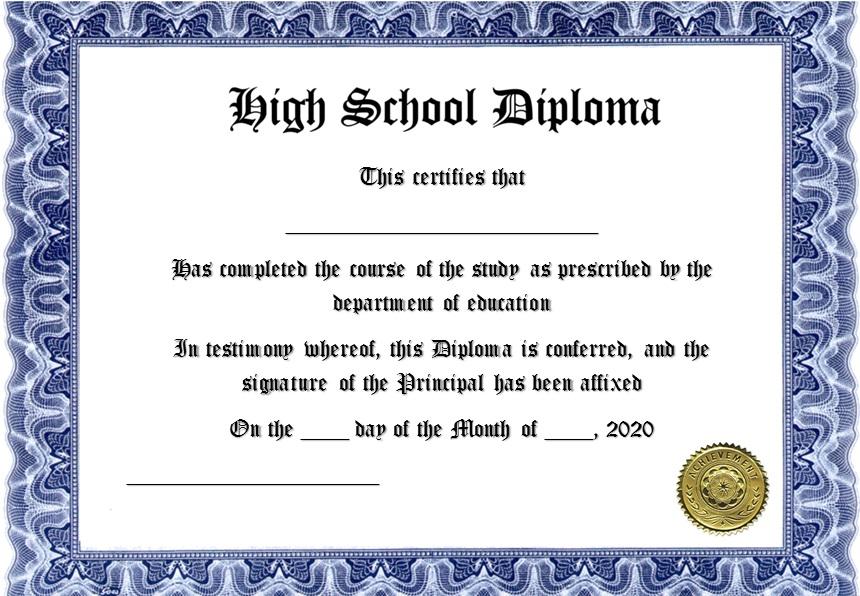 27+ Free High School Diploma Templates [Word]