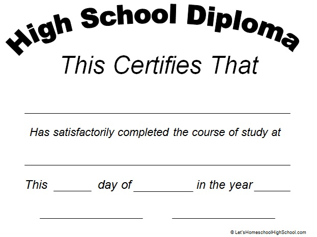 high school diploma template 3