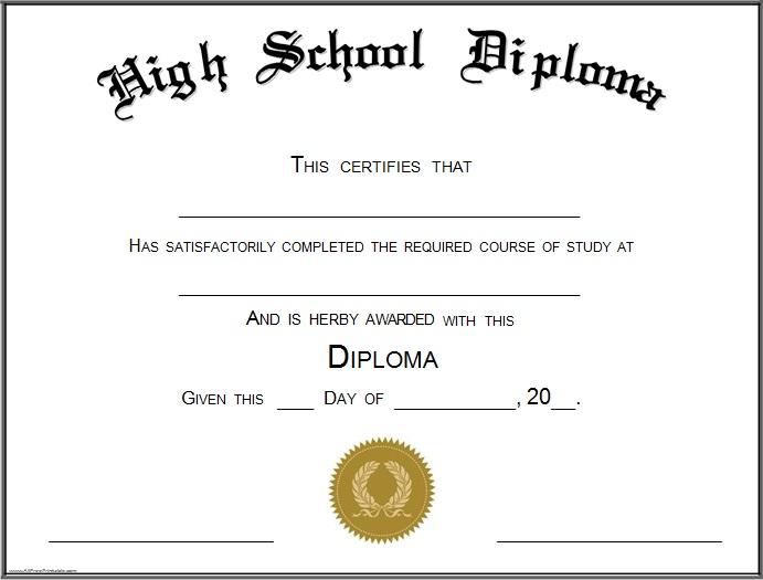 high school diploma template 4