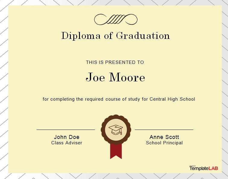 high school diploma template 6