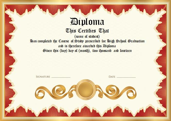 high school diploma template 7