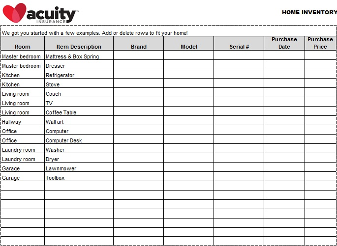 inventory spreadsheet template 14