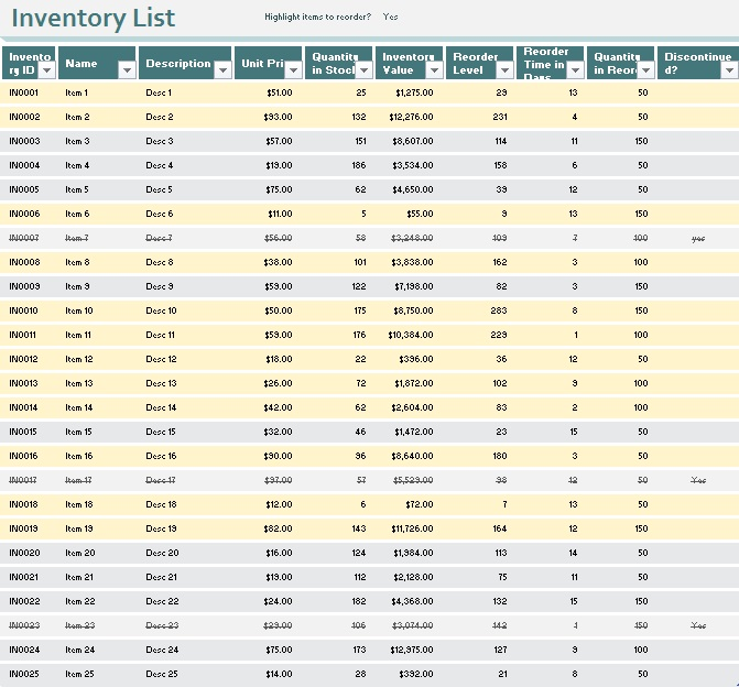 inventory spreadsheet template 21