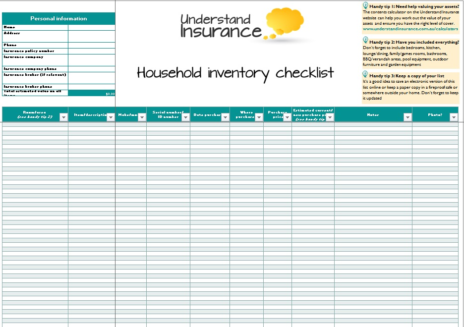 inventory spreadsheet template 6