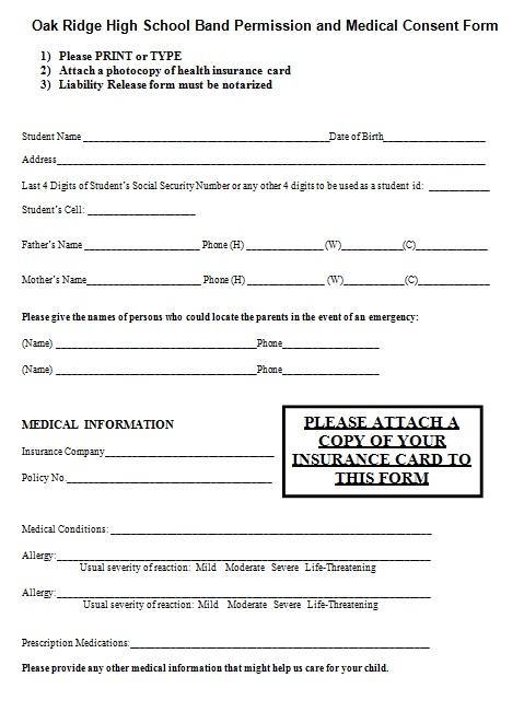 medical consent form 1