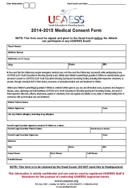 medical consent form 11