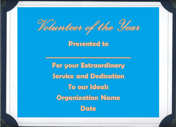 volunteering certificate template 10