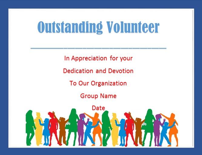 volunteering certificate template 13