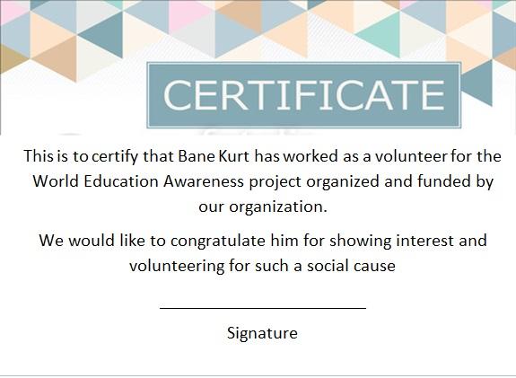 volunteering certificate template 14