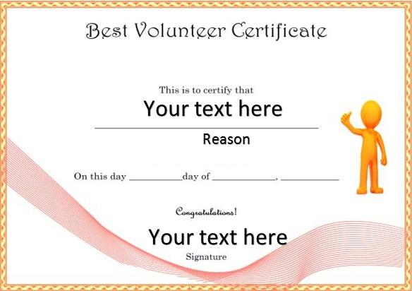 volunteering certificate template 16