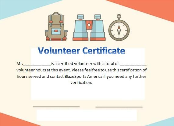 volunteering certificate template 22